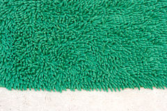 Green doormat. For clean and wipe foot, closeup Royalty Free Stock Photos