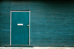 Green doors Stock Photography