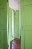 Green doors. Stock Images