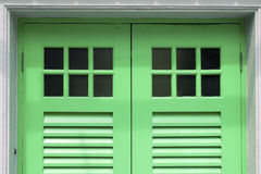 Green doors Royalty Free Stock Photos