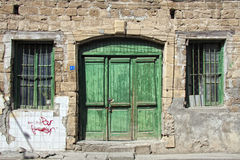 Green doors Stock Photos