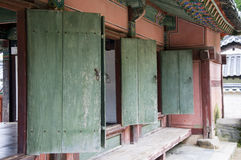 Green Doors,South korea Royalty Free Stock Image