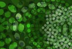 Green Dots Background Stock Image