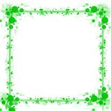 Green dots circles frame background Stock Images