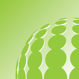 Green dots ecological background. With place for your text vector illustration