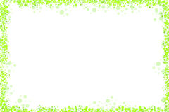 Green dots fram on white. A set of green dots forming a frame with white background stock illustration