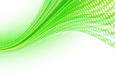 Green dotted abstraction Royalty Free Stock Image