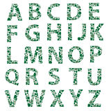 Green dotted alphabet letters eps10 Stock Images