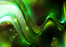Green dotted composition Stock Photography