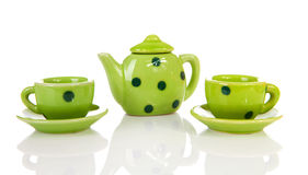 Green dotted tablewear Royalty Free Stock Photo