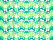 Green dotted waves vector seamless pattern Stock Photos