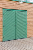Green double door Stock Photos