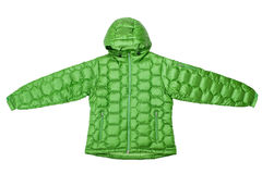 Green down jacket Royalty Free Stock Photography