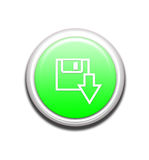 Green Download Button Stock Photography