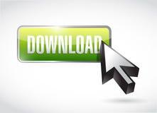 Green download button illustration design Stock Photos