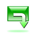 Green download icon Stock Images
