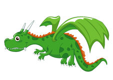 Green dragon royalty free illustration