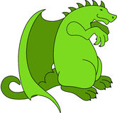 Green Dragon Royalty Free Stock Photos
