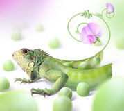 Green dragon. Fantasia on a theme of animals and plants. creative product Stock Photo