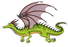 Green Dragon Royalty Free Stock Image