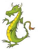Green dragon. Cartoon style funny green dragon Royalty Free Stock Photo