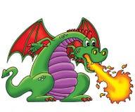 Green dragon. Wild animal beast Royalty Free Stock Photography