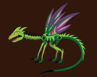 Green dragon alien Stock Images