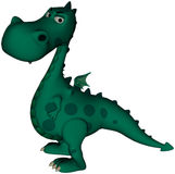 Green Dragon Angry. Green dragon with an angry expression Stock Photography