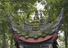 Green dragon of Baoguan temple Stock Photography