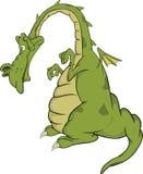 Green dragon.Cartoon Stock Images