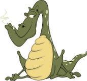 Green dragon. Cartoon Stock Photography