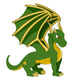 Green dragon cartoon Stock Photo
