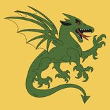 Green dragon coat of arms Royalty Free Stock Image