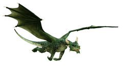 Green dragon flying out Royalty Free Stock Photography