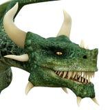 Green dragon head Stock Photography