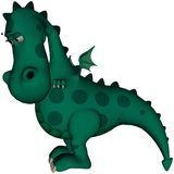 Green Dragon I'm Sorry Stock Photo