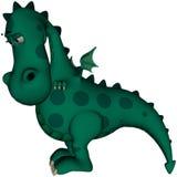 Green Dragon I'm Sorry. Cute green dragon looking very sorry Stock Photo