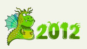 Green dragon illustration Royalty Free Stock Photos