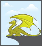 Green Dragon Royalty Free Stock Images