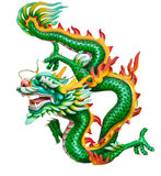 Green Dragon Isolated On White Royalty Free Stock Image