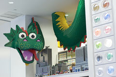 Green Dragon at The LEGO Store - New York City Royalty Free Stock Image