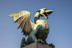 Green Dragon in ljubljana Stock Image
