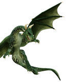Green dragon looking down Royalty Free Stock Image
