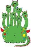 Green dragon monster vector illustration