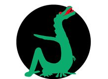 Green dragon Stock Images