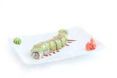 Green Dragon Roll Royalty Free Stock Image