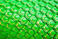 Green dragon scales background or Serpent stucco Royalty Free Stock Images