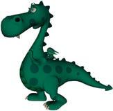 Green Dragon Surprised!. Cute green dragon having an Eureka moment Royalty Free Stock Photography