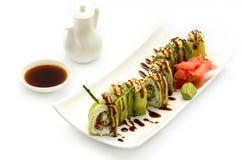 Green dragon sush Stock Photos