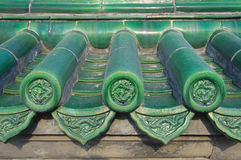 Green Dragon Tiles, Temple Of Heaven, Beijing Stock Photography